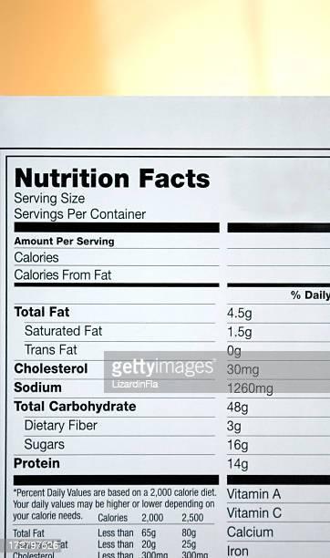 Ernährung Fakten label