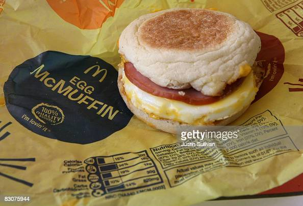 Nutritional information is printed on the wrapper of a McDonald's Egg McMuffin October 1 2008 in San Rafael California California Governor Arnold...