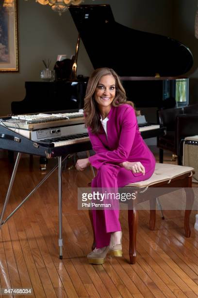 Nutritionist Joy Bauer is photographed at her Fender Rhodes Keyboard for Closer Weekly Magazine on May 12 2017 at home in New York