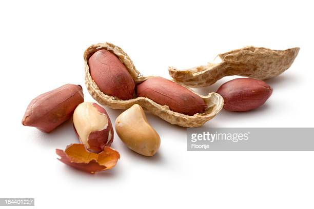 Nuts: Peanuts Isolated on White Background