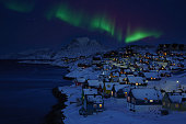 Nuuk Old Town Northern Light