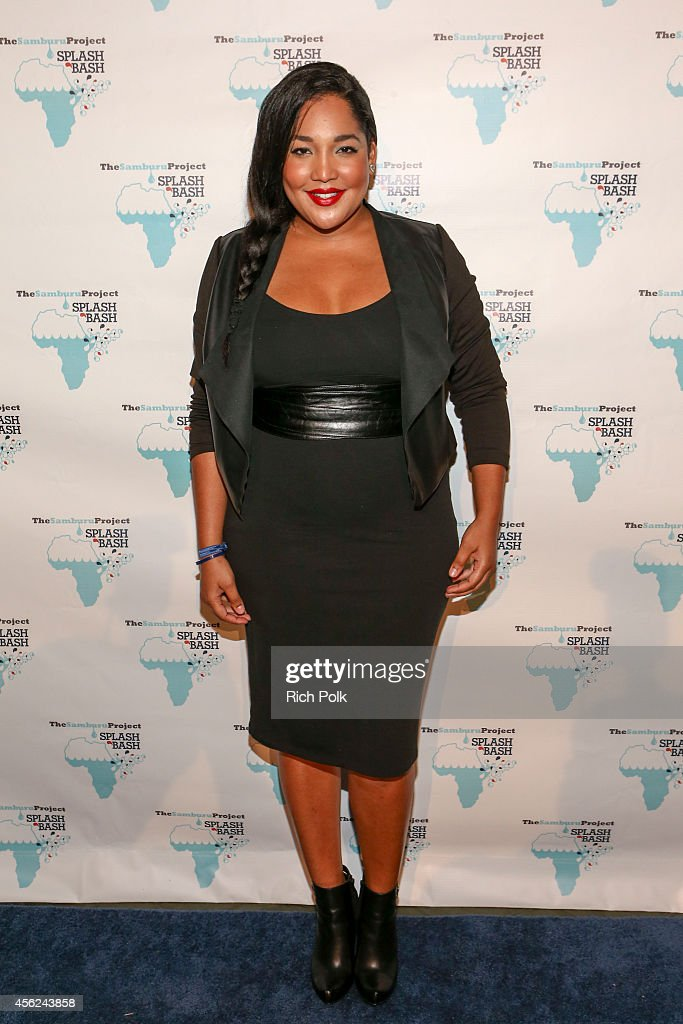 NuvoTV CurvyGirls Lornalitz Baez arrives at the Samburu Splash Bash Event on September 27 2014 in Santa Monica California