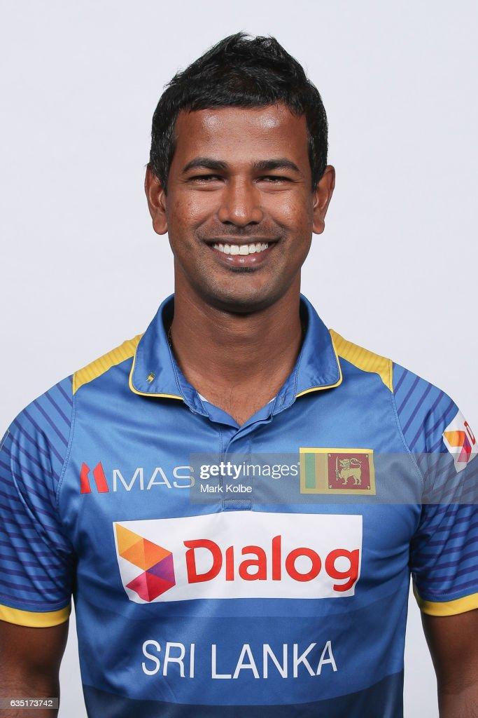 Nuwan Kulasekara of Sri Lanka poses during a Sri Lanka headshots session at the Realm Hotel on February 14, 2017 in Canberra, Australia.