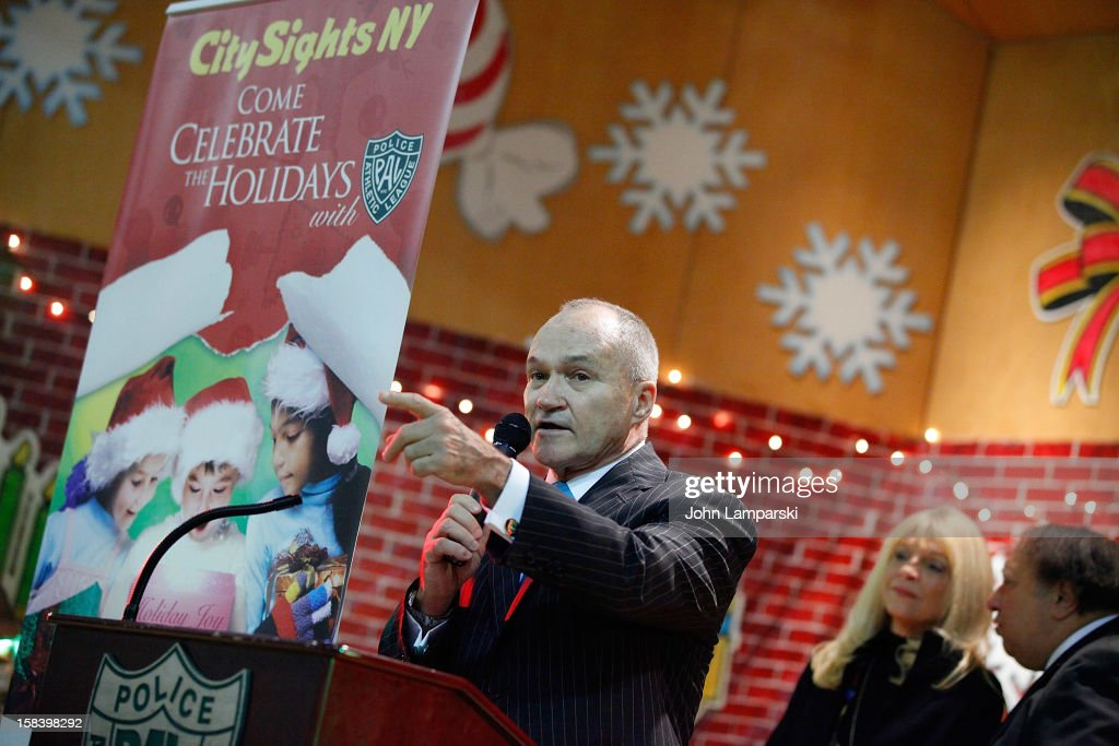 Nwe York Police Commissioner Raymond W. Kelly attends The Police Athletic League And CitySights NY Holiday Party And Toy Drive at PAL's Harlem Center on December 15, 2012 in New York City.