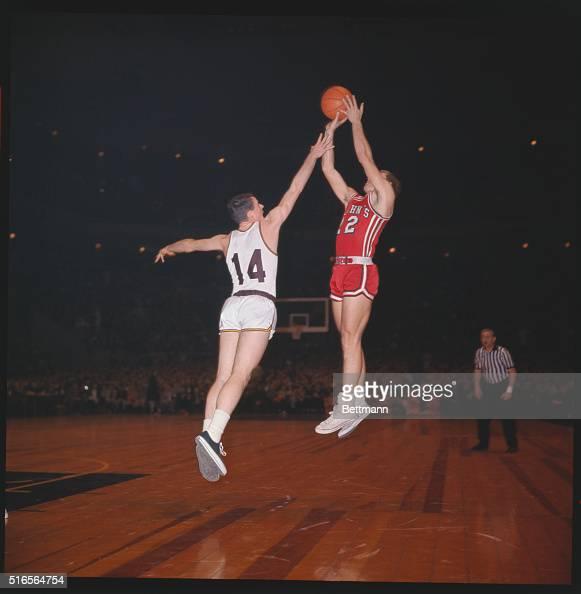 NXPNational Invitation tournament Madison Square Garden game between Boston College and St Johns No 14 Bob Furbush tries to intercept a score by no...