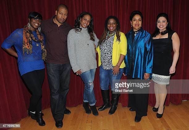 Nyahele Allie Morocco Omari Kahmaila Forbes Katori Hall Phylicia Rashad and MariaChristina Oliveras attend The Lark Theater's 20th Anniversary...
