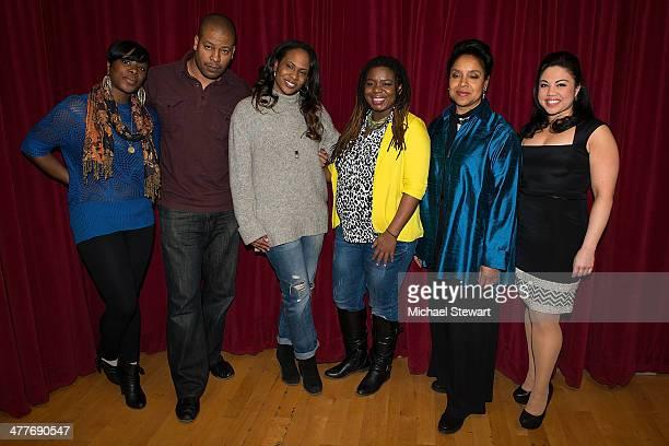 Nyahele Allie Morocco Omari Kahmila Forbes Katori Hall Phylicia Rashad and MariaChristina Oliveras attend the Lark Theater's 20th Anniversary Benefit...