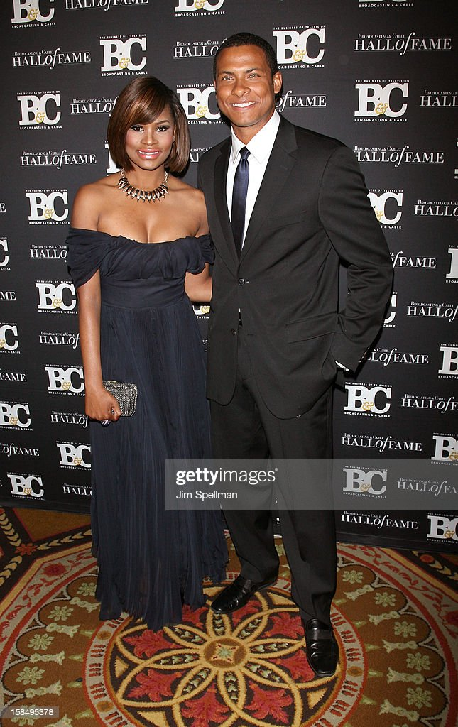 Nyasha Zimucha and News Correspondent Errol Barnett attend at 2012 Broadcasting & Cable Hall Of Fame Awards The Waldorf Astoria on December 17, 2012 in New York City.