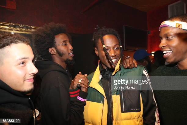 Nyck Caution CJ Fly Joey Badass and Issa Gold Attend Underachievers In Concert` at Irving Plaza on October 16 2017 in New York City