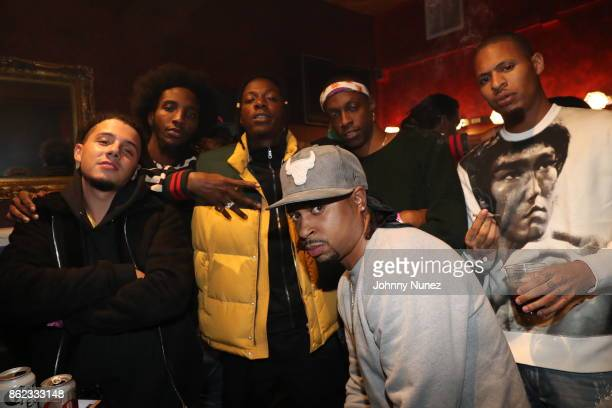 Nyck Caution CJ Fly Joey Badass Lex Issa Gold and AK Attend Underachievers In Concert` at Irving Plaza on October 16 2017 in New York City