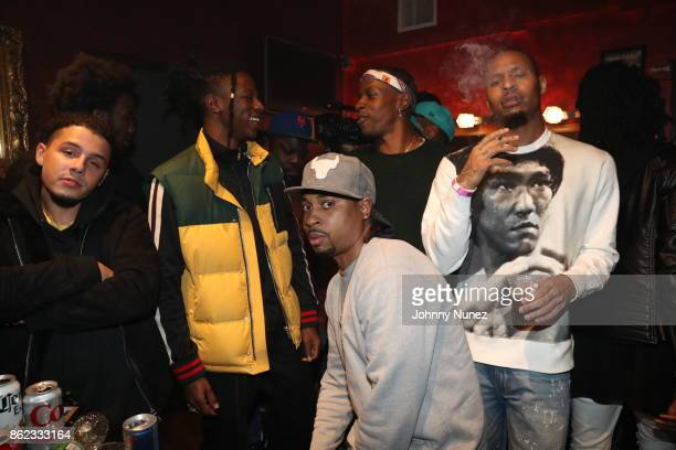 Nyck Caution Joey Badass Lex Issa Gold and AK Attend Underachievers In Concert` at Irving Plaza on October 16 2017 in New York City
