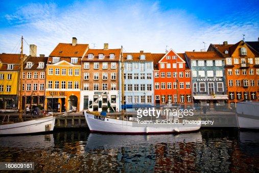 Nyhavn, colorful harbour of Copenhagen (Denmark)