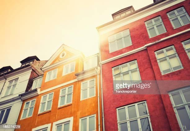 Nyhavn multicolored house facade in Copenhagen
