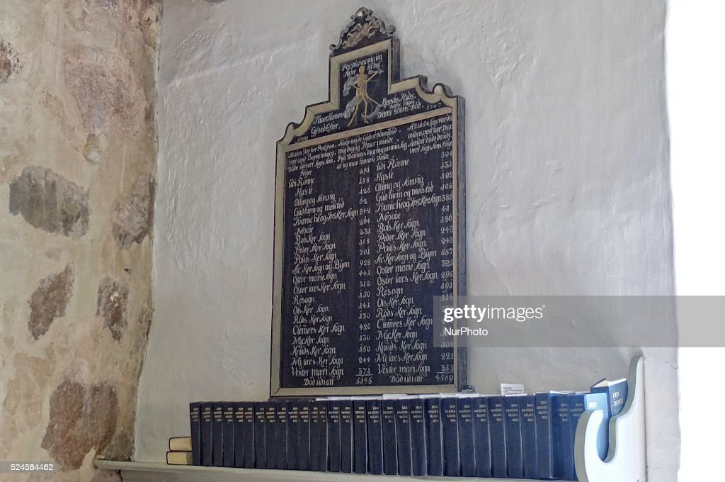 Nyker Denmark Bornholm Island 13th August 2015 Ny Kirke is a 12thcentury round church located in the village of Nyker some 7 km from Ronne on the...