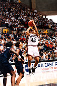 Nykesha Sales of the University of Connecticut shoots a jump shot during the NCAA East Regional final vs Virginia Storrs CT 1995