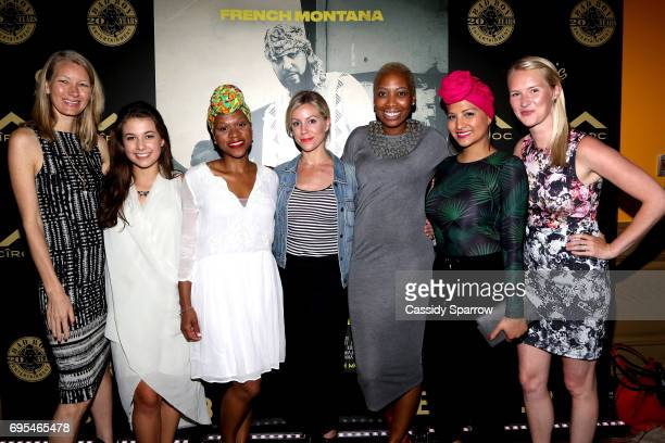 Nyla Rodgers Madison McCormick Victoria Fortune Katie Hill Xiomara Small Nalie Agustin and Katie Carey Nivard attend French Montana PROJECT...