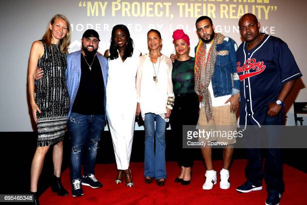 Nyla Rodgers Wassim 'SAL' Slaiby Lola Ogunnaike Sylvia Rhone Nalie Agustin French Montana and Harve Pierre attend French Montana PROJECT...