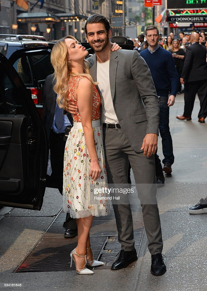 <a gi-track='captionPersonalityLinkClicked' href=/galleries/search?phrase=Nyle+DiMarco&family=editorial&specificpeople=14889249 ng-click='$event.stopPropagation()'>Nyle DiMarco</a> and pro-partner <a gi-track='captionPersonalityLinkClicked' href=/galleries/search?phrase=Peta+Murgatroyd&family=editorial&specificpeople=6824437 ng-click='$event.stopPropagation()'>Peta Murgatroyd</a> are seen on the set of 'Good Morning America' on May 25, 2016 in New York City.