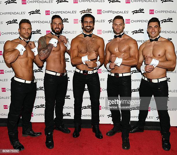 Nyle DiMarco joins the legendary Chippendales on the red carpet at The Rio AllSuite Hotel Casino during opening night as the special celebrity guest...