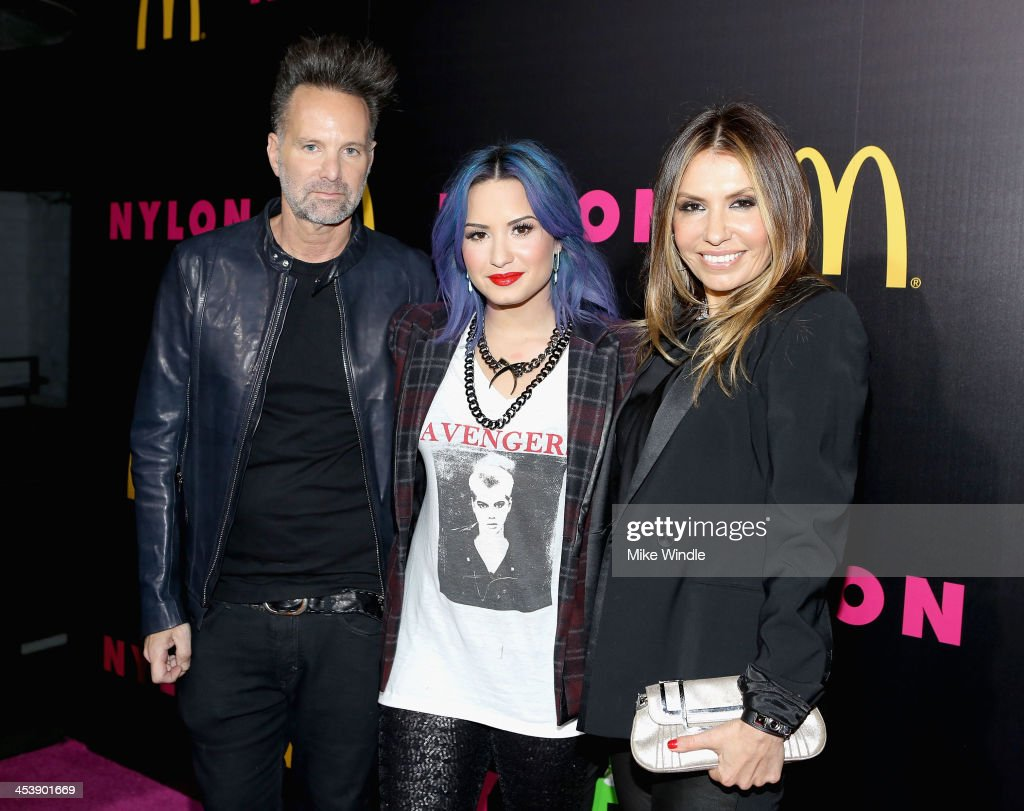 Nylon editor-in-chief <a gi-track='captionPersonalityLinkClicked' href=/galleries/search?phrase=Marvin+Scott+Jarrett&family=editorial&specificpeople=859907 ng-click='$event.stopPropagation()'>Marvin Scott Jarrett</a>, actress <a gi-track='captionPersonalityLinkClicked' href=/galleries/search?phrase=Demi+Lovato&family=editorial&specificpeople=4897002 ng-click='$event.stopPropagation()'>Demi Lovato</a> and Nylon publisher Jaclynn Jarrett attend NYLON + McDonald's Dec/Jan issue launch party, hosted by cover star <a gi-track='captionPersonalityLinkClicked' href=/galleries/search?phrase=Demi+Lovato&family=editorial&specificpeople=4897002 ng-click='$event.stopPropagation()'>Demi Lovato</a> on December 5, 2013 in West Hollywood, California.