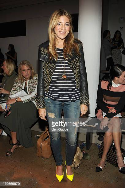 Nylon Magazine Style Editor Dani Stahl attends the Peter Som Spring 2014 fashion show during MercedesBenz Fashion Week at Milk Studios on September 6...