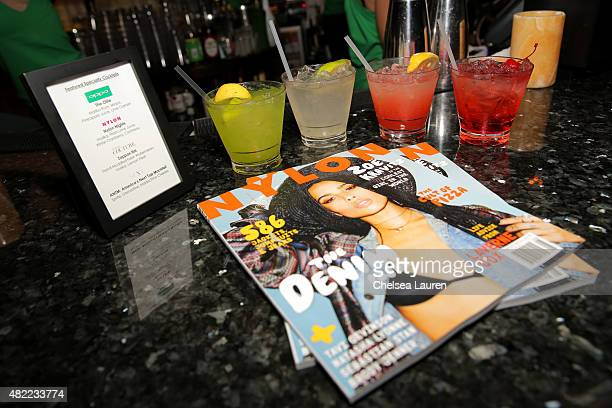 Nylon magazines are displayed at the 'America's Next Top Model' Cycle 22 Premiere Party presented by OPPO and NYLON on July 28 2015 in West Hollywood...