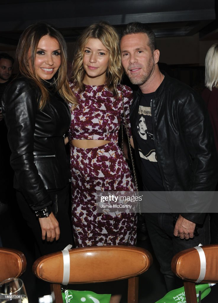 Nylon Publisher Jaclynn Jarrett, Erin Collison, Scott Lipps attend NYLON + Sanuk celebrate the October 'It Girl' issue with cover star Alexa Chung at La Cenita on October 8, 2013 in New York City.