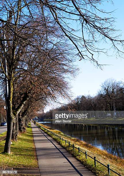 Nymphenburg Canal in Munich, Germany