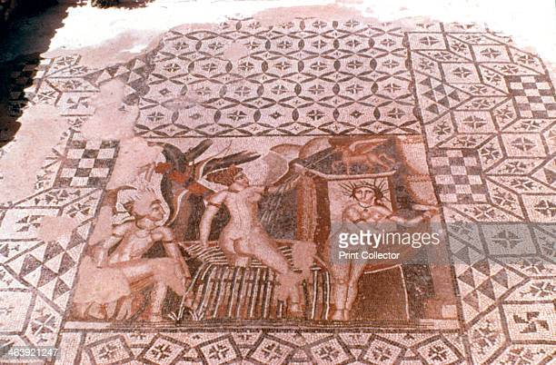 Nymphs Roman mosaic Volubilis Morocco Built in c40 BC Voubilis was a Roman town near the western border of Rome's territory in North Africa It was...