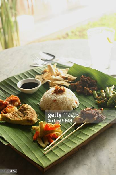 Nyonya fried rice + side dishes