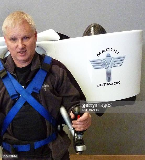 NZealandaviationjetpack BY A photo taken on May 11 2011 shows jetpack inventor Glenn Martin with his creation in Christchurch The jetpack which has...