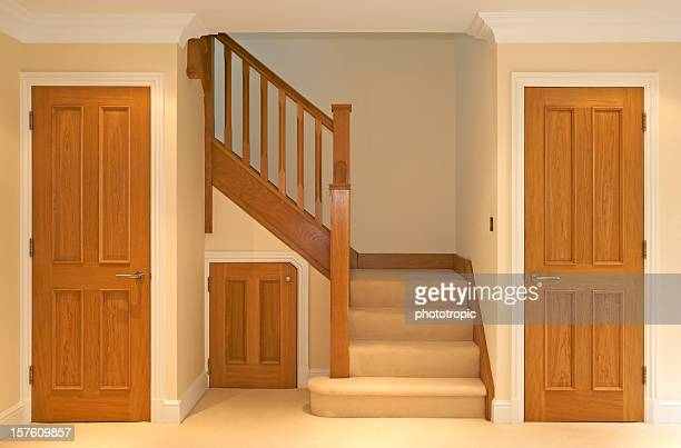 oak stairway and doors