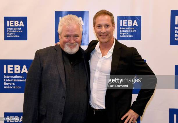 Oak View Group's Ray Waddell and American music executive Marc Geiger attend the Keynote Q A Marc Geiger during IEBA 2017 Conference on October 17...