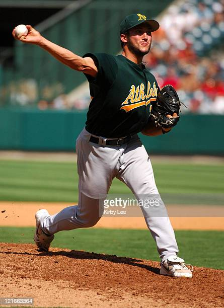 Oakland Athletics reliever Huston Street picked up his 23rd save during 32 victory over the Los Angeles Angels of Anaheim at Angel Stadium in Anaheim...