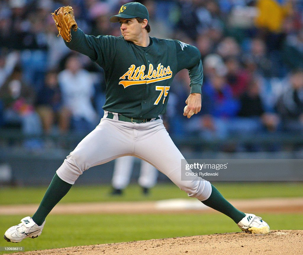 Oakland Athletics' Starting Pitcher Barry Zito pitches during their game against the Chicago White Sox May 22 2006 at US Cellular Field in Chicago...
