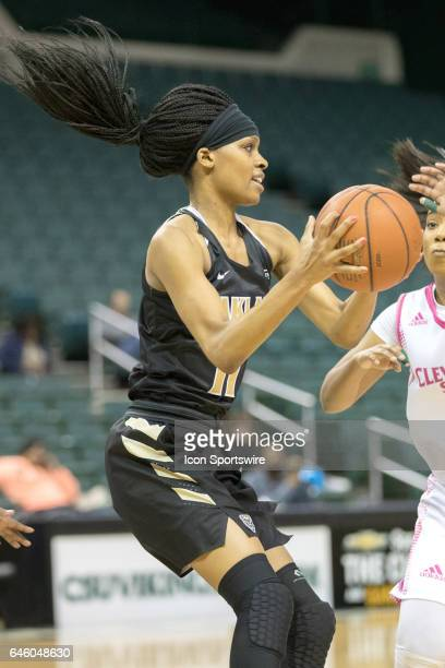 Oakland Golden Grizzlies F Hannah Little grabs a rebound during the second quarter of the women's college basketball game between the Oakland Golden...