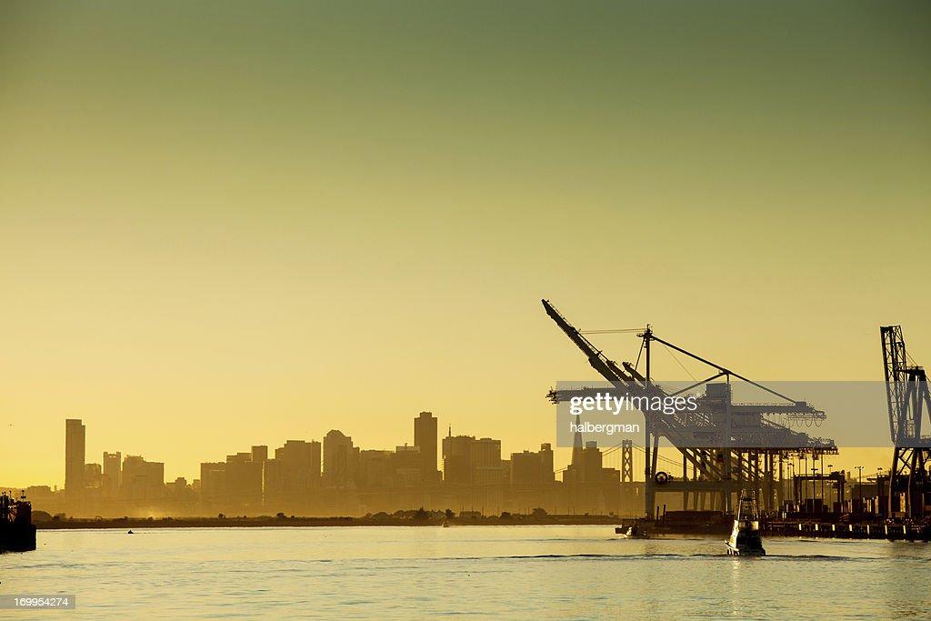 Oakland Harbor at Sunset