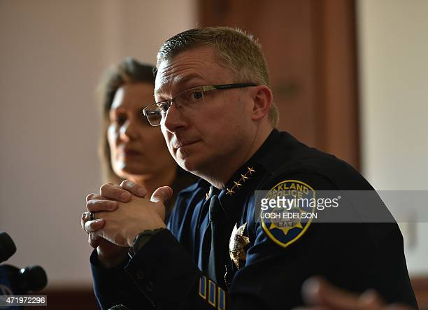 Oakland Police Chief Sean Whent listens to questions from the media about vandalism and property damage that ensued during May Day protest in Oakland...