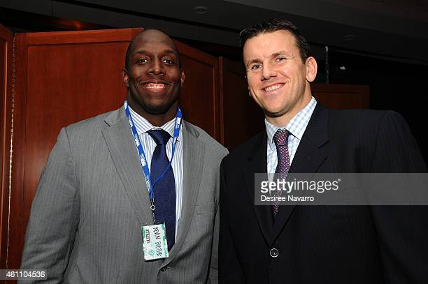 Oakland Raiders NFL player Kevin Boothe and New York Giants NFL player Chris Snee attend the 18th Annual MDA Muscle Team Gala at Pier 60 on January 6...