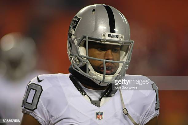 Oakland Raiders wide receiver Seth Roberts before a Thursday night AFC West showdown between the Oakland Raiders and Kansas City Chiefs on December...