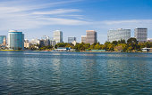 Oakland skyline and Lake Merritt