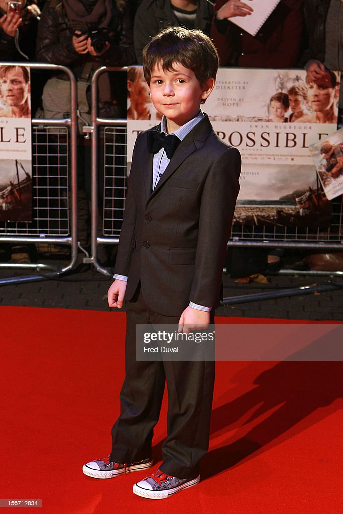 Oaklee Pendergast attends the UK charity premiere of 'The Impossible' at BFI IMAX on November 19, 2012 in London, England.