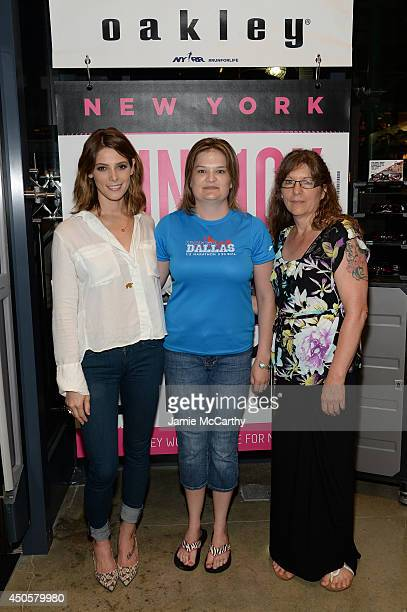 Oakley Eyewear Ambassador Ashley Greene Made for More Contest winner Charlotte Judd and Rebecca Judd attend Meet And Greet At Oakley's Fifth Ave...