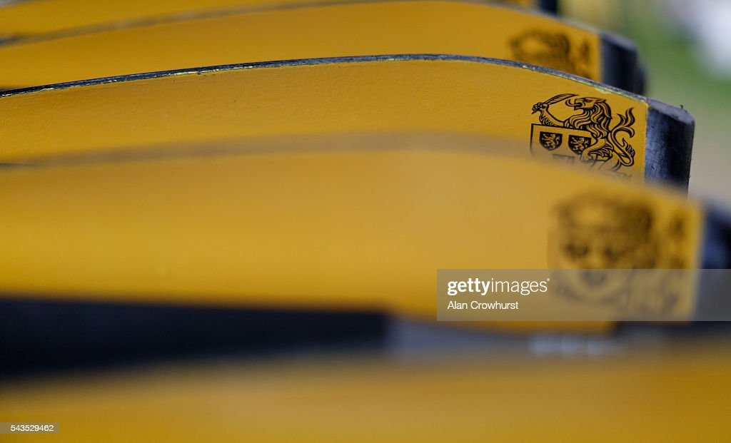 Oars in the boat house during the Henley Royal Regatta on June 29, 2016 in Henley-on-Thames, England.