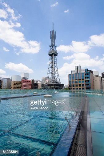 Oasis 21 water park and TV tower : Stock Photo