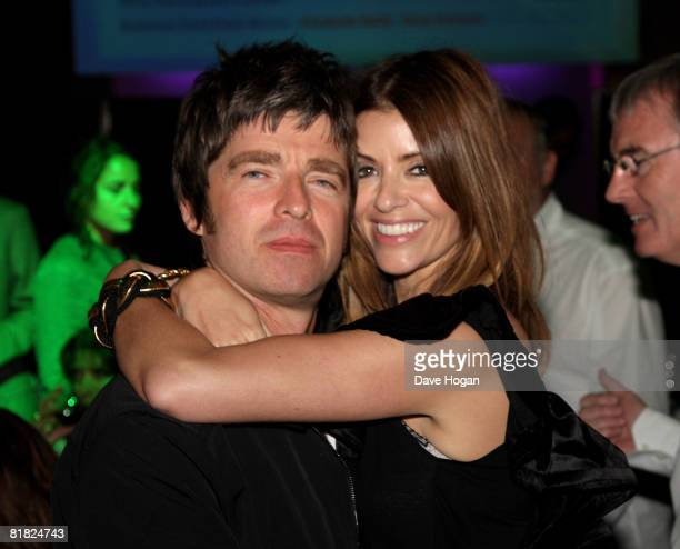 Oasis member Noel Gallagher and his girlfriend Sara MacDonald attend The O2 Silver Clef Awards Luncheon in aid of NordoffRobbins Music Therapy at The...