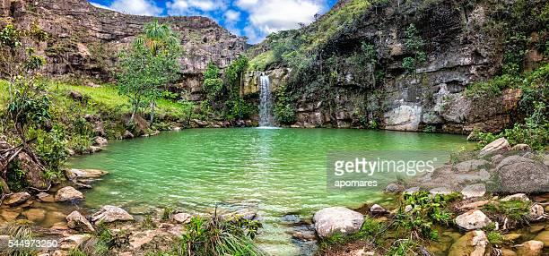 Oásis ou Quebrada- Pacheco queda de água. La Gran Sabana Venezuela