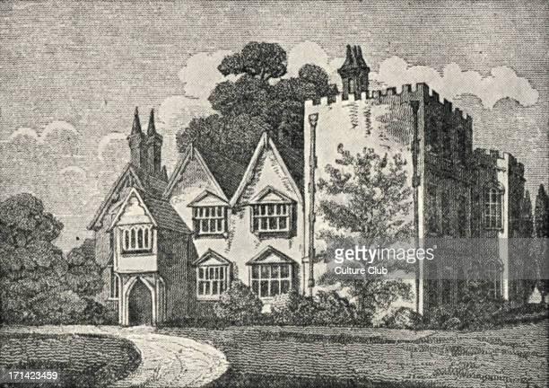 Oates the residence of John Locke engraving English philosopher 1632 1704