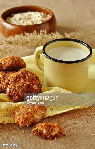 Oatmeal cookies : Stock Photo