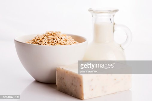 Oatmeal soap : Stock Photo